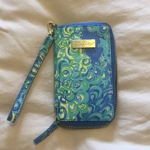 Lilly Pulitzer Sea Blue Phone Wristlet/Wallet